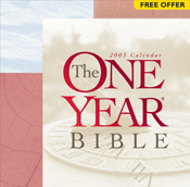 The One Year Bible 2003 Calendar