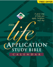 Life Application Study Bible 2005 Calendar