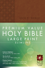 Premium Value Large Print Slimline Bible NLT