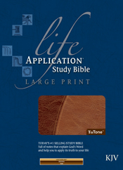 Life Application Study Bible KJV, Large Print TuTone