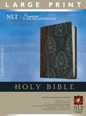 Premium Slimline Reference Bible NLT, Large Print TuTone