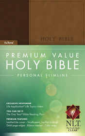 Premium Value Personal Slimline Bible NLT, TuTone