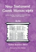 Cover: New Testament Greek Manuscripts: Acts