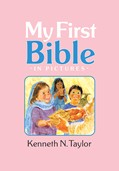 Cover: My First Bible In Pictures, baby pink