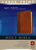 Cover: Slimline Center Column Reference Bible NLT, Large Print