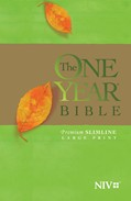 Cover: The One Year Bible NIV, Premium Slimline Large Print edition