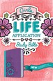 Girls Life Application Study Bible NLT : LeatherLike, Purple/Teal TuTone
