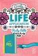 Girls Life Application Study Bible NLT : LeatherLike, Teal/Yellow