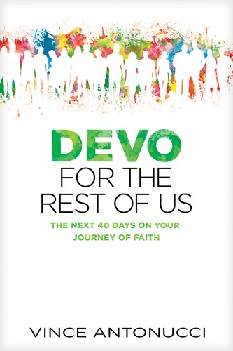 http://www.amazon.com/Devo-Rest-Us-Journey-Faith/dp/1496410955