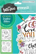 Cover: 1 Thessalonians 1:4 Colorable Stickers