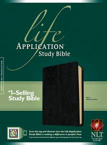 Life Application Study Bible NLT: Bonded Leather, Black