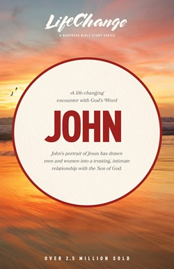 Front cover image of the LifeChange Bible study on the book of John. Life Change is a series of Bible studies by the Navigators and covers many books of the Bible. Accessible enough to be given as a thoughtful gift to a new believer.