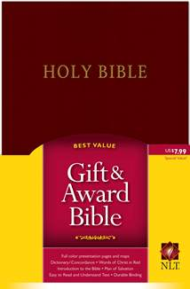Gift and Award Bible NLT: Imitation Leather, Burgundy/maroon