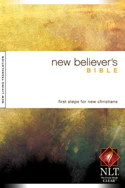 Front cover image of the New Believer's Bible, New Living Translation.