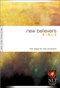 Front cover image of the New Believer's Bible. A wonderful first gift for a new believer in your life!