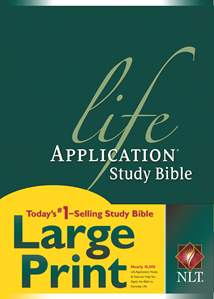Life Application Study Bible NLT, Large Print: Hardcover