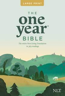 The One Year Bible NLT, Premium Slimline Large Print edition: Softcover