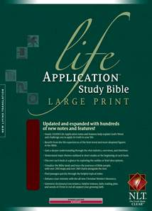 Life Application Study Bible NLT, Large Print: Bonded Leather, Indexed, Burgundy/maroon