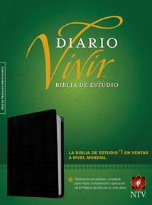 Biblia de estudio del diario vivir NTV: Bonded Leather, Indexed, Black, Red Letter