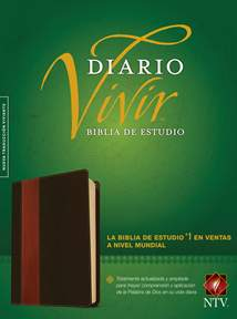Biblia de estudio del diario vivir NTV: LeatherLike, Brown/Tan, Red Letter