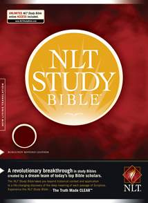 NLT Study Bible: Bonded Leather, Burgundy, Red Letter