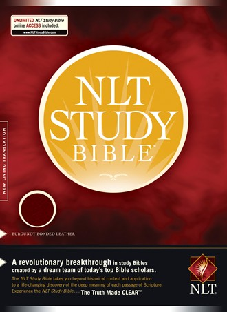 NLT Study Bible: Bonded Leather, Burgundy