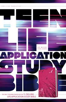 Teen Life Application Study Bible NLT: LeatherLike, Pink
