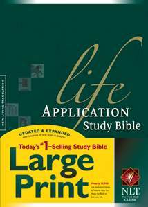 Life Application Study Bible NLT, Large Print: Hardcover, Indexed