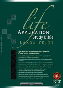 Life Application Study Bible NLT, Large Print: Bonded Leather, Indexed, Black