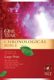 The One Year Chronological Bible NLT, Premium Slimline Large Print: Softcover