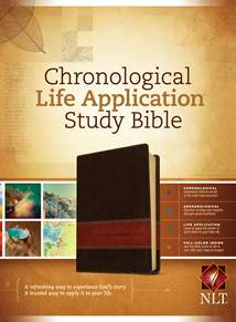 NLT Chronological Life Application Study Bible: LeatherLike, Brown/Tan TuTone