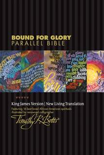 Bound for Glory Parallel Bible KJV/NLT: LeatherLike, Ebony/Heritage Tapestry TuTone