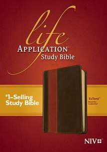 Life Application Study Bible NIV: LeatherLike, Brown/Tan TuTone