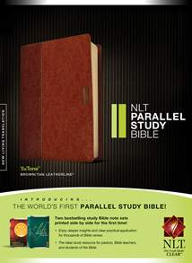 NLT Parallel Study Bible: LeatherLike, Indexed, Brown/Tan TuTone