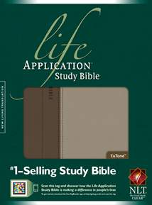 Life Application Study Bible NLT: LeatherLike, Indexed, Taupe/Stone TuTone