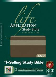 Life Application Study Bible NLT, Personal Size: LeatherLike, Taupe/Stone TuTone