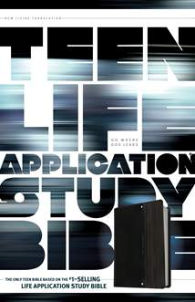 Teen Life Application Study Bible NLT: LeatherLike, Black