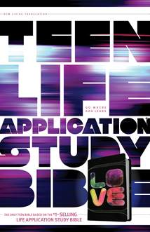Teen Life Application Study Bible NLT: LeatherLike, Black/Tie Dye