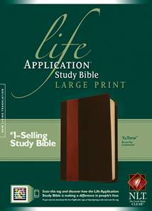 Life Application Study Bible NLT, Large Print: LeatherLike, Indexed, Brown/Tan TuTone