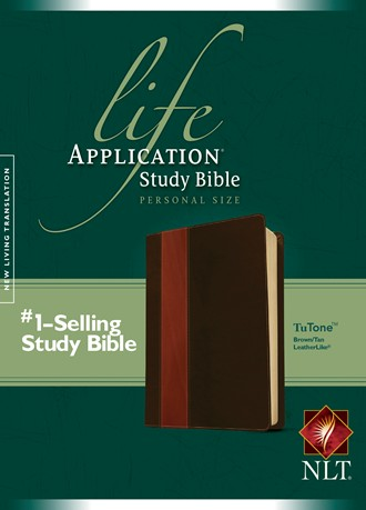 Life Application Study Bible NLT, Personal Size: LeatherLike, Brown/Tan TuTone