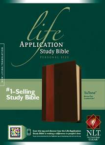 Life Application Study Bible NLT, Personal Size: LeatherLike, Indexed, Brown/Tan TuTone