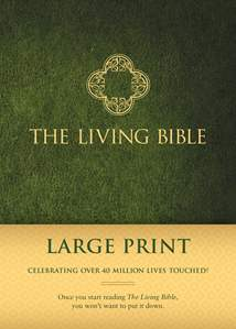 The Living Bible Large Print Edition: Hardcover, Green