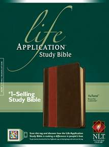 Life Application Study Bible NLT: LeatherLike, Brown/Tan TuTone