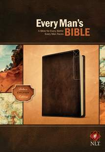 Every Man's Bible NLT: LeatherLike, Brown