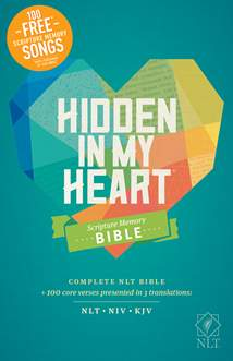 Hidden in My Heart Scripture Memory Bible NLT: Hardcover