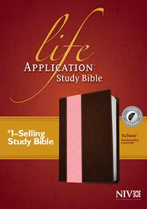 Life Application Study Bible NIV: LeatherLike, Indexed, Dark Brown/Pink TuTone