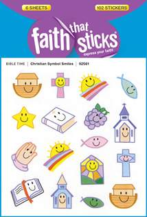 Christian Symbol Smiles: Stickers