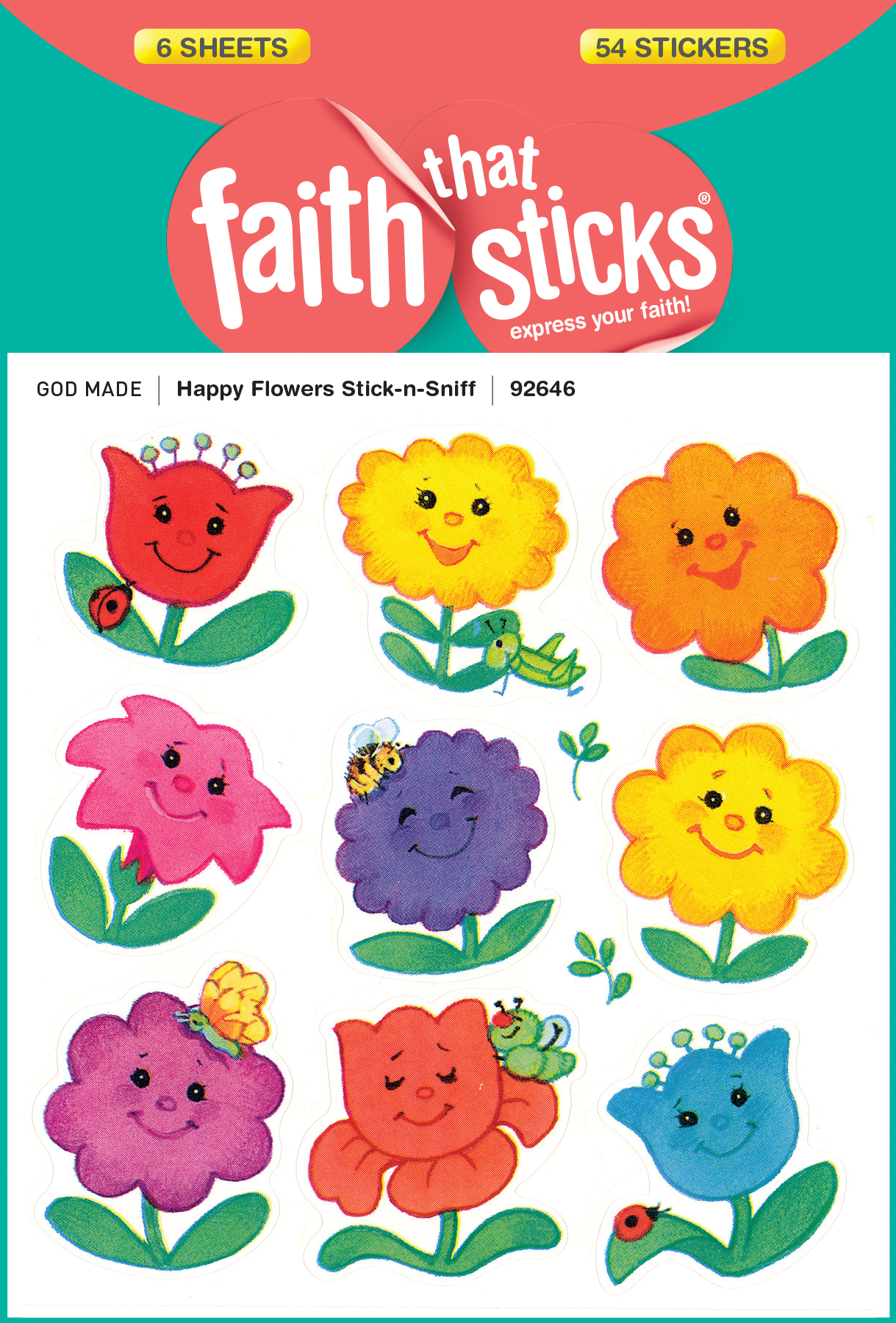 Happy Flowers Stick-n-Sniff