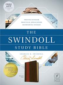 The Swindoll Study Bible NLT: LeatherLike, Brown/Tan TuTone