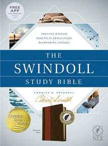 The Swindoll Study Bible NLT: LeatherLike, Indexed, Brown/Tan TuTone